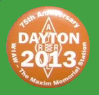 Chapa ARRL - Hamvention Dayton  2013 - 75º Aniversario W1AW  - The MAXIM memorial station