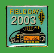 Pin ARRL -  Field Day 2003