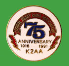 Pin USA -75º Aniversario South Jersey ARC - K2AA