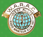Pin West Allis Radio Amateur Club - WARAC - USA