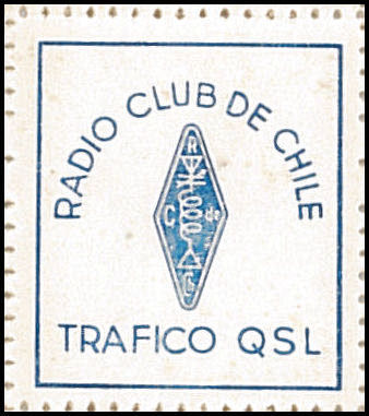 QSL Stamp RADIO CLUB CHILE - años 60