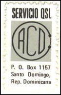 QSL Stamp REPUBLICA DOMINICANA